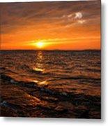 Golden Sundown Metal Print