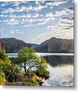Golden Sunrise - Canyon Lake Metal Print