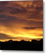 Golden Sunset 1 Metal Print