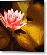 Golden Swamp Flower Metal Print