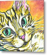 Golden Tabby Metal Print