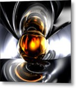 Golden Tears Abstract Metal Print