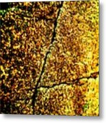 Golden Texture Abstract Metal Print