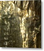 Golden Texture Metal Print