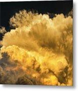 Golden Thunderhead Metal Print