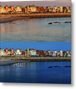 Golden To Blue Hour Puerto Sherry Cadiz Spain Metal Print