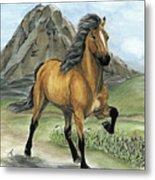 Golden Tolt Icelandic Horse Metal Print