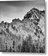 Golden Trail Crater Lake Rim Metal Print