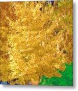 Golden Tree Metal Print