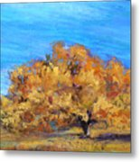 Golden Tree Metal Print
