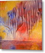 Golden Trees Of The Enchanted Forest Metal Print