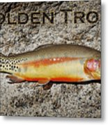Golden Trout Metal Print
