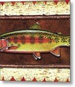 Golden Trout Lodge Metal Print