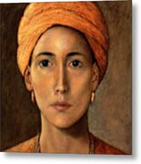 Golden Turban Metal Print