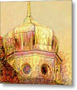 Golden Turret Metal Print