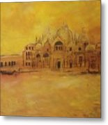 Golden Venice Metal Print