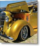 Golden Vintage Dodge Metal Print