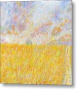 Golden Wheat Field Metal Print