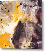 Golden Yellow And Purple Metal Print