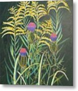 Goldenrod In Summer Metal Print