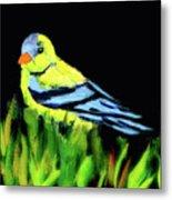 Goldfinch In The Garden Metal Print