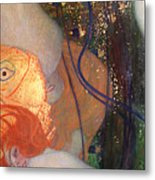 Goldfish Metal Print by Gustav Klimt