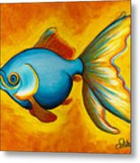 Goldfish Metal Print by Sabina Espinet