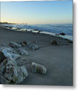 Goleta Bluffs Dawn  9578l Metal Print