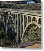 Goleta Hwy 101 Bridge Metal Print