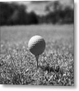 Golf Ball On The Tee Metal Print by Joe Fox