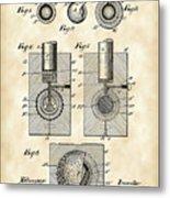 Golf Ball Patent 1902 - Vintage Metal Print