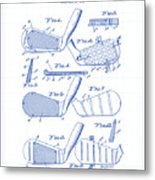 Golf Clubs Patent Drawing Metal Print