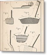 Golf Clubs Patent - Patent Drawing For The 1903 A. F. Knight Golf Clubs Metal Print