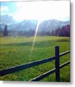 Golf Course Sun Rays Metal Print