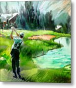 Golf In Crans Sur Sierre Switzerland 01 Metal Print