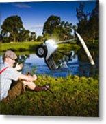 Golf Problem Metal Print