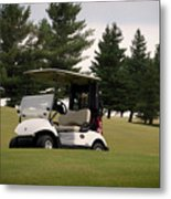 Golfing Golf Cart 01 Metal Print