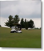 Golfing Golf Cart 02 Metal Print