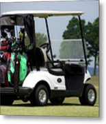 Golfing Golf Cart 05 Metal Print