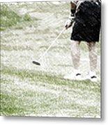 Golfing Putting The Ball 01 Pa Metal Print