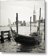 Gondola In Bacino S.marco S Metal Print