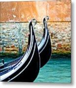 Gondola In Venice 1 Metal Print