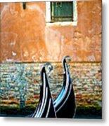 Gondola In Venice 2 Metal Print