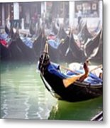 Gondola In Venice In The Morning Metal Print