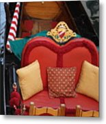 Gondola Interior In Venice Metal Print
