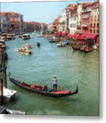 Gondola On The Grand Canal Metal Print