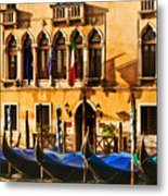 Gondola Parking Only Metal Print