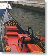 Gondola Rossa Venice Italy Metal Print by Italian Art