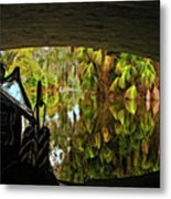 Gondola Under A Bridge Metal Print