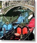 Gondolas Fresco  Metal Print